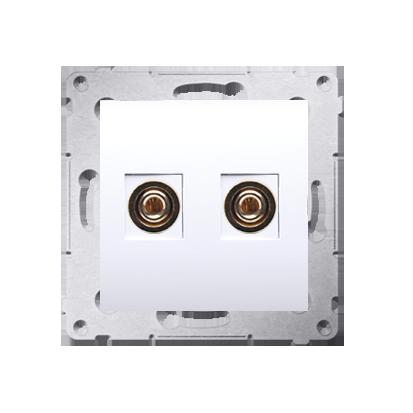 Lautsprecher Anschlussdose Modul-Einsätze 1fach weiß Simon 54 Premium Kontakt Simon DGL2.01/11