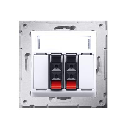 Lautsprecher Anschlussdose Modul-Einsätze 2fach weiß Kontakt Simon 54 Premium DGL32.01/11
