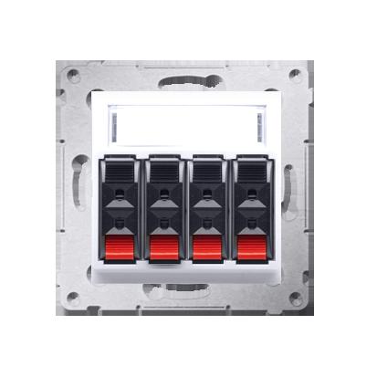 Lautsprecher Anschlussdose Modul-Einsätze 4fach weiß Kontakt Simon 54 Premium DGL34.01/11