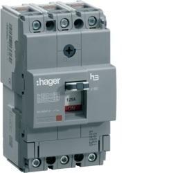Leistungschalter h3 x160 TM ADJ 3P3D 100A 40kA CTC Hager HNA100H