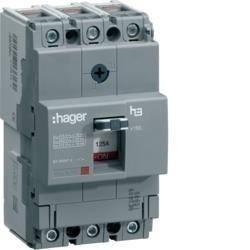 Leistungschalter h3 x160 TM ADJ 3P3D 25A 25kA CTC Hager HHA025H