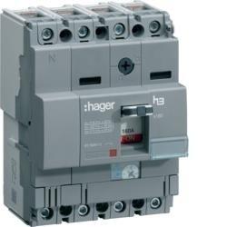 Leistungschalter h3 x160 TM ADJ 4P4D N0-100% 125A 25kA CTC Hager HHA126H