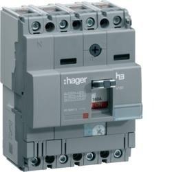 Leistungschalter h3 x160 TM ADJ 4P4D N0-100% 160A 25kA CTC Hager HHA161H