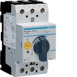 Motorschutzschalter einstellbar von 1,0 bis 1,6A 230/400V Hager MM506N