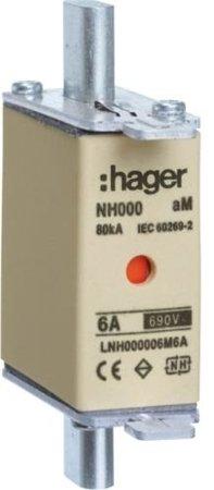 NH-Sicherungseinsatz NH000 aM 690V 40A Kombimelder Grifflasche spannungsführend Hager LNH000040M6A