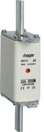NH-Sicherungseinsatz  NH1C gG 690V 63A Kombimelder Grifflasche spannungsführend Hager LNH1063M6