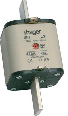 NH-Sicherungseinsatz NH3 gG 500V 425A Kombi- Melder mit isolierter Grifflasche Hager LNH3425MK