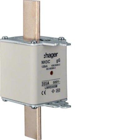 NH-Sicherungseinsatz NH3C gG 500V 355A Kombi- Melder Grifflasche spannungsführend Hager LNH3355M