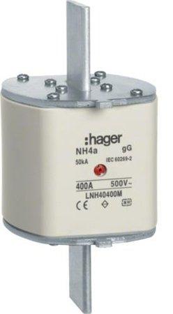 NH-Sicherungseinsatz NH4 gG 500V 1000A Mittekennmelder Grifflasche Spgs.-führend Hager LNH41000SM