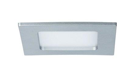 Panel LED Qual quadratisch 6W 4000K Chrom IP44