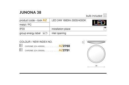 Plafond JUNONA 38 Modern Metall, PC Chrom Azzardo AZ2751