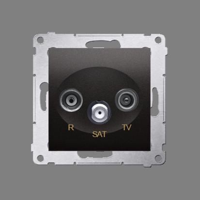 R-TV-SAT-Enddose Einsatz anthrazit matt Simon 54 Premium Kontakt Simon DASK.01/48