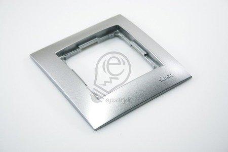 Rahmen 1fach silber matt IP20/IP44 Simon 54 Premium Kontakt Simon DR1/43