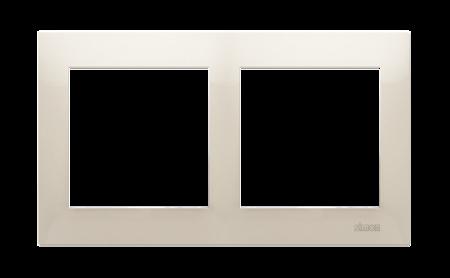 Rahmen 2fach für Hohlwanddose Gipskarton cremeweiß matt IP20/IP44 Kontakt Simon 54 Premium DRK2/41