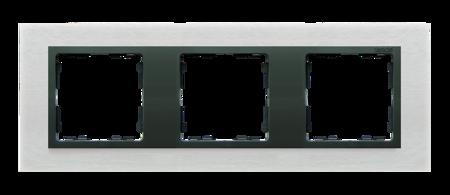 Rahmen 3fach Glas Inox matt/ Zwischenrahmen graphit Kontakt Simon 82 82837-31