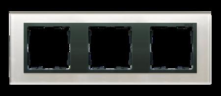Rahmen 3fach Glas silber/ Zwischenrahmen graphit Kontakt Simon 82 82837-35