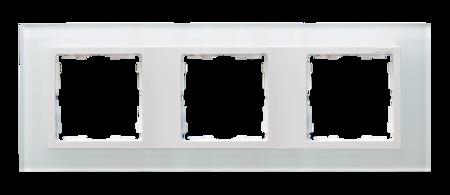 Rahmen 3fach Glas weiß/ Zwischenrahmen weiß Kontakt Simon 82 82637-30