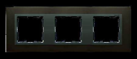 Rahmen 3fach Stahl graphit/ Zwischenrahmen graphit Kontakt Simon 82 82837-38