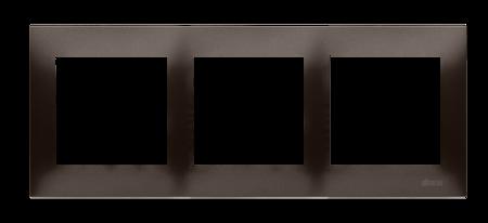 Rahmen 3fach für Hohlwanddose Gipskarton braun matt IP20/IP44 Simon 54 Premium Kontakt Simon DRK3/46