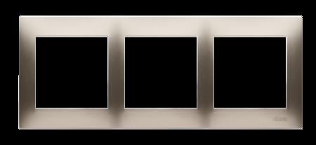 Rahmen 3fach für Hohlwanddose Gipskarton gold matt IP20/IP44 Simon 54 Premium Kontakt Simon DRK3/44