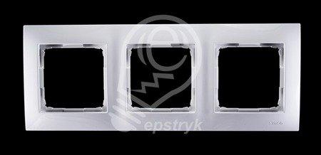 Rahmen 3fach weiß glänzend IP20/IP44 Simon 54 Premium Kontakt Simon DR3/11
