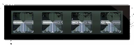 Rahmen 4fach Glas schwarz/ Zwischenrahmen graphit Kontakt Simon 82 82847-32