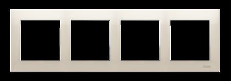 Rahmen 4fach für Hohlwanddose Gipskarton cremeweiß matt IP20/IP44 Kontakt Simon 54 Premium DRK4/41