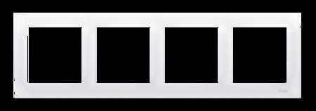 Rahmen 4fach für Hohlwanddose Gipskarton weiß glänzend IP20/IP44 Kontakt Simon 54 Premium DRK4/11