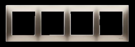 Rahmen 4fach gold matt IP20/IP44 Simon 54 Premium Kontakt Simon DR4/44
