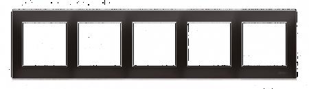 Rahmen 5fach anthrazit matt IP20/IP44 Simon 54 Premium Kontakt Simon DR5/48