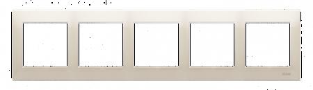 Rahmen 5fach cremeweiß matt IP20/IP44 Simon 54 Premium Kontakt Simon DR5/41
