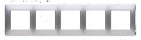 Rahmen 5fach für Hohlwanddose Gipskarton silber matt IP20/IP44 Kontakt Simon 54 Premium DRK5/43