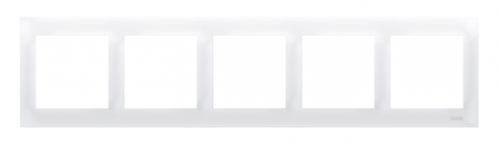 Rahmen 5fach für Hohlwanddose Gipskarton weiß glänzend IP20/IP44 Kontakt Simon 54 Premium DRK5/11