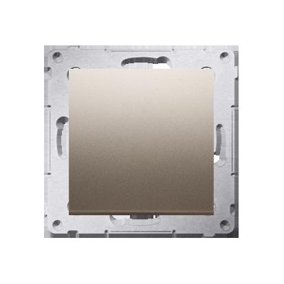 Schalter (Modul) einpolig mit Schraubklemmen matt gold Simon 54 Premium Kontakt Simon DW1A.01/44