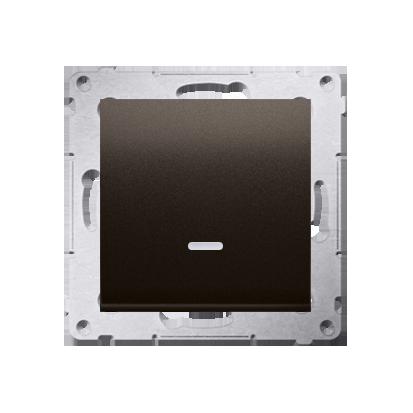 Schalter (Modul) einpolig mit Signalisierung Braun matt Kontakt Simon 54 Premium DW1ZL.01/46