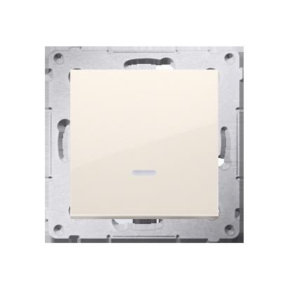 Schalter (Modul) einpolig mit Signalisierung cremeweiß Kontakt Simon 54 Premium DW1ZL.01/41