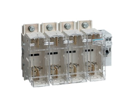 Schalter mit Sicherung 4polig 400 A/ T2 Hager HFD440