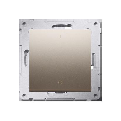 Schalter zweipolig mit Aufdruck und Steckklemmen Gold matt Simon 54 Premium Kontakt Simon DW2.01/44