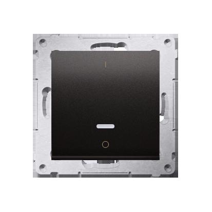 Schalter zweipolig mit LED und Aufdruck Anthrazit matt Kontakt Simon 54 Premium DW2L.01/48