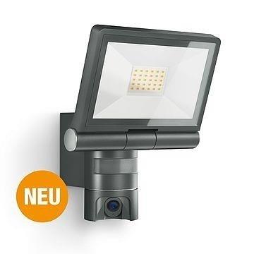 Scheinwerfer LED mit Kamera XLED CAM 21W 3000K 2200lm Anthrazit IP44 Steinel