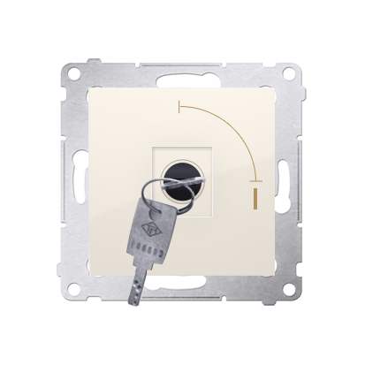 """Schlüsselschalter 1polig """"0-I"""" Cremeweiß Kontakt Simon 54 Premium DW1K.01/41"""