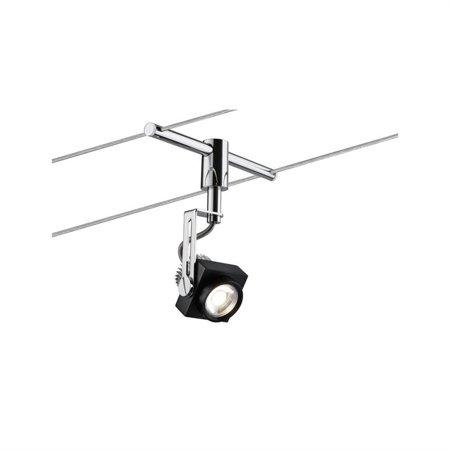 Seilsystem LED Phase 5x5W Chrom 12V Schwarz Chrom