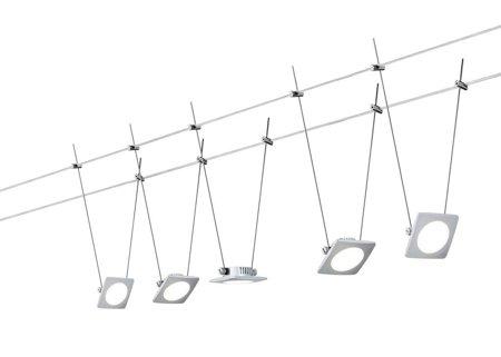 Seilsystem LED QuadLED 5x4W Chrom matt 12V