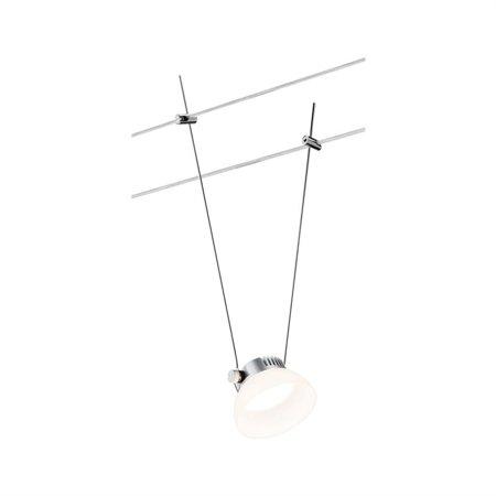 Seilsystem Spot LED IceLED 4W Chrom matt, weiß 12V