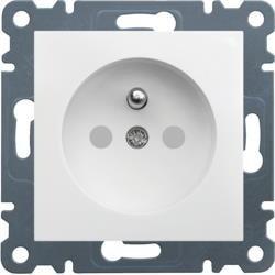 Steckdose mit Erdung, Kontaktflecken, 16 A/250 VAC, weiß WL1040 Lumina Hager