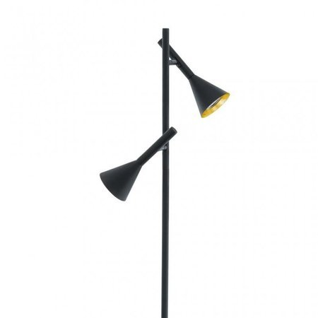 Stehlampe CORTADERAS schwarz und gold GU10 - LED 5W 2x 4000lm 3000K 97806 EGLO