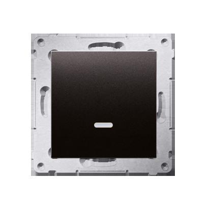 Taster 1fach mit LED Anthrazit matt Kontakt Simon 54 Premium DP1AL.01/48