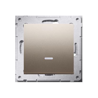 Taster 1fach mit LED Gold matt Kontakt Simon 54 Premium DP1AL.01/44