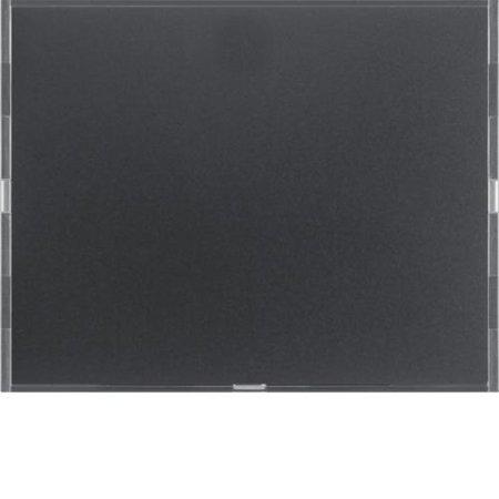 Tastsensor 1fach Komfort mit Beschriftungsfeld KNX K.1 anthrazit matt lackiert Hager 80161776