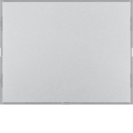 Tastsensor 1fach Komfort mit Beschriftungsfeld KNX K.5 alu matt lackiert Hager 80161774